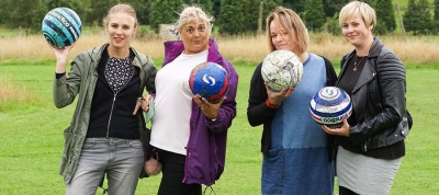 Foster Families Try Their Feet at Footgolf!